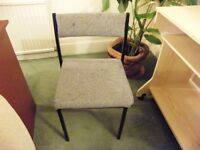 Black framed Office Chairs Grey Flecked Upholstery
