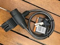 Halfords Cycle Lock with Keys (New)