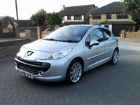 2007 Peugeot 207 GT Turbo, Only 44,000 miles, Service History, Panoramic roof, Lovely car ford focus