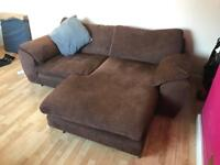 2 Brown Two Seater Sofas