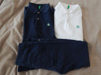 Boys Benetton polos and jeans, size 8-9