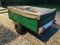 Wooden trailer - wood, clear outs, tow bar