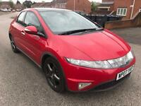 2007/07 Honda Civic 2.2 Es I-CDTI 5dr FSH Heated Leathers Top spec