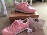 Pink Reebok Classics size 4