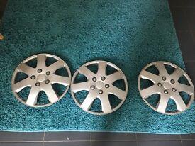 3x 16 inch wheel trims