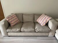 3 and 2 seater modern sofa only 18 months old