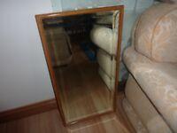 oak trimmed mirror