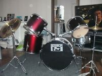 Session Pro drum Kit in Red