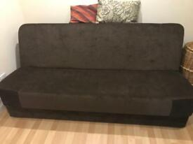 Sofa double bed with storage