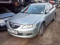 2003 Mazda 6 2.0d TS 136 4dr silver BREAKING FOR SPARES