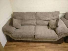 Three 3 Seater DFS Fabric Sofas - very good condition