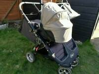 Double buggy with bassinet