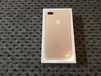iPhone 7 Plus, 32gb, brand new in sealed box, on ee/t-mobile/orange, gold in colour.