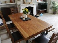 Reclaimed Pine Dining Table set (4 chairs and bench)
