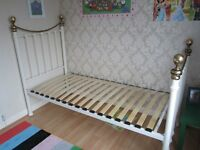 Gorgeous Solid Single Bed Frame Shabby Chic French Girl Gold