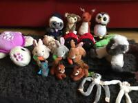 Selection of animal teddies