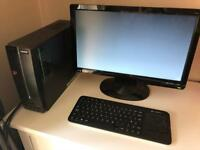 Acer XC-105 desktop pc, led monitor and wireless keyboard
