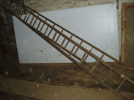 Set of Wooden Ladders.