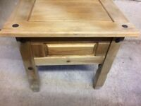 Pine lamp table/small coffee table