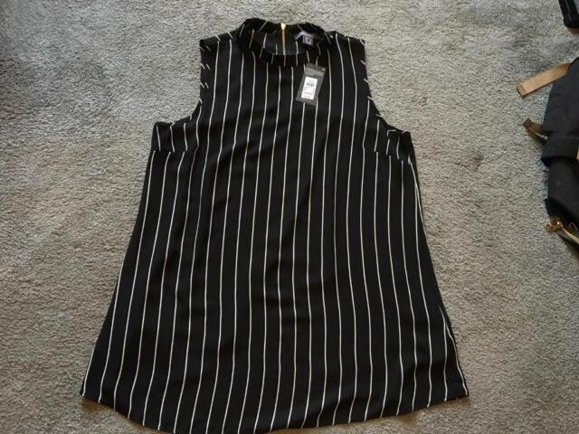 ec5751af4f1e94 Primark ladies tops blouse sleeveless size 14 brand new black £3 | in ...