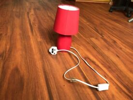 Table / Night lamp - Red color - Like new