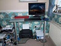 Glass and Chrome Desk /Workstation