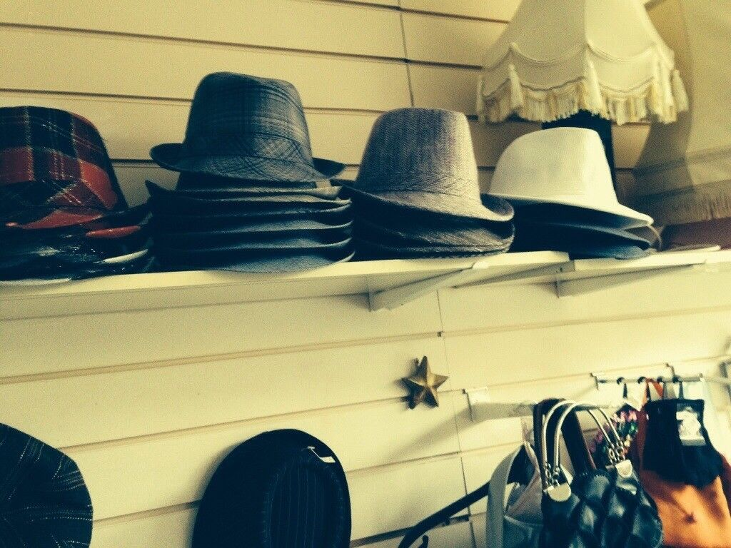 Trendy trilby hats many colours