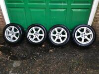 "Genuine VW 15"" Alloy Wheel Set Including Tyres 6J x !5 Polo or Golf"
