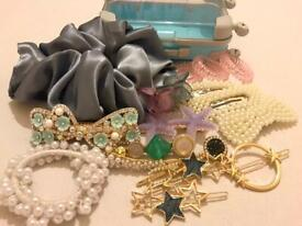 Bundle of hair accessories for £6 comes with cute mini luggage