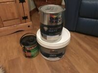 3 tubs of paint together or separately