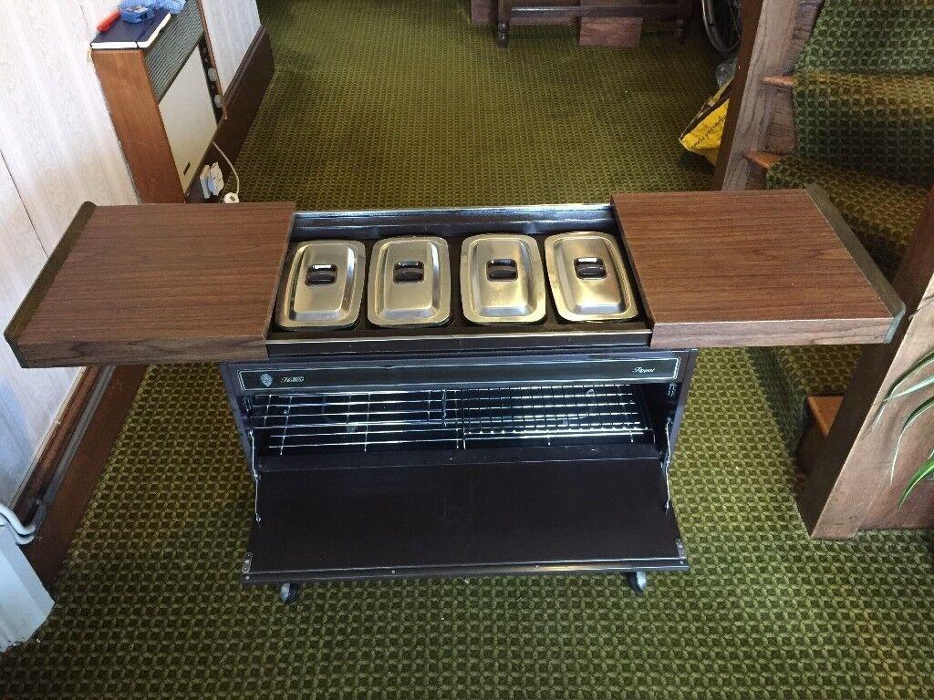 Hostess heated food trolley
