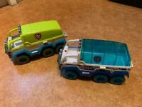 Paw patrol trucks x 2