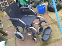 LIGHTWEIGHT FOLDING WHEELCHAIR IN VERY GOOD CONDITION