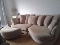 Next sofa with footstool
