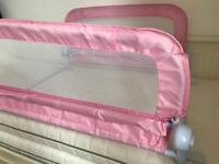 Double pink bed guard