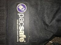 Pacsafe for backpacks. Must have for travellers