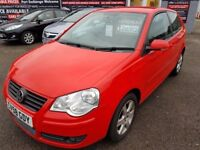 FREE MOTS AS LONG AS YOU OWN THIS CAR 2008 VW POLO 1.4 MATCH 3 DOOR RED SEPT 2018 MOT 86K S HISTORY