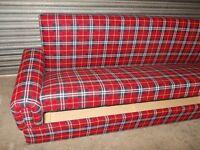 Royal Red Tartan Sofabed