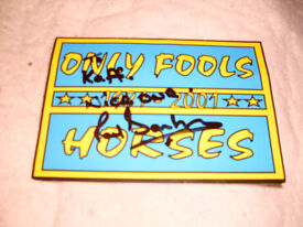 AUTOGRAPHED TICKET BY DENZIL FROM FOOLS AND HORSES.