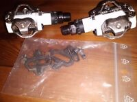 SHIMANO M520 SPD pedals with cleats AS NEW