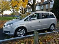 Vauxhall zafira 1.9 disel half leathers clean car
