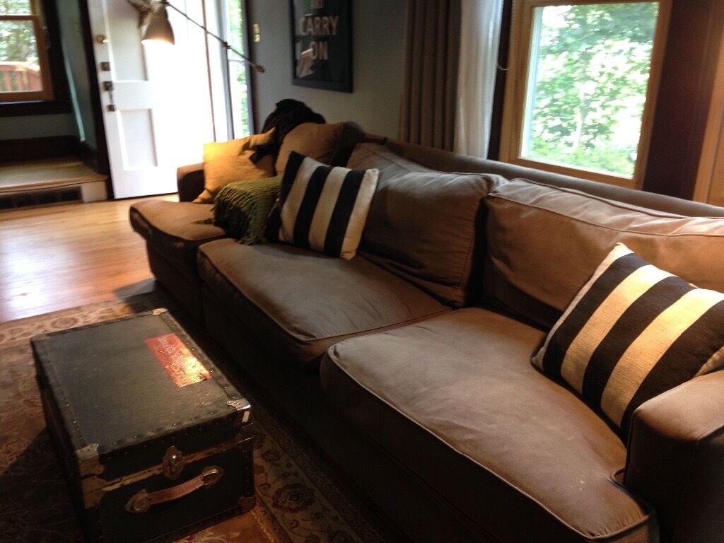 Crate and Barrel couch plus 2 arm chairs | in Chelmsford, Essex ...