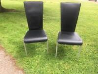 Barker & Stonehouse- Pair Faux Black Chairs