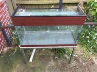 GLASS TANK AND STAND