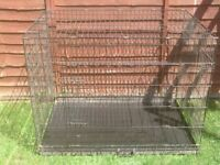 DOG CAGE X LARGE WITH METAL TRAY £35