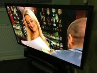 "Samsung 43"" Plasma Series 4 HD Ready Freeview Digital Television with Remote Control, Base Stand"