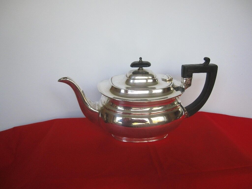 Edwardian style silver plated teapot