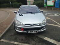 2004 peugeot 206 cc very nice condition metal folding roof alloys leather service history
