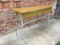 Table Retro Iconic Vintage School Statement Furniture Dining Side Display Desk