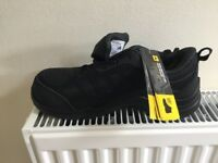 Black safety trainers size 6 new in box with tag.